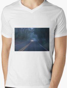 Foggy Morning Drive Mens V-Neck T-Shirt