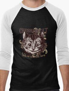 Cheshire Cat Carnivale Style Men's Baseball ¾ T-Shirt