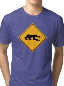 Sloth Crossing Tri-blend T-Shirt