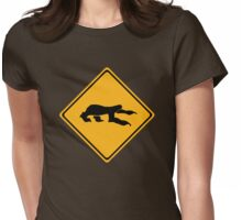 Sloth Crossing Womens Fitted T-Shirt