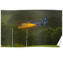 Goal!  RFS Chopper takeoff in heavy rain Poster