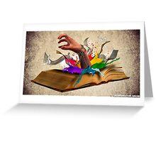 Books are Uniquely portable Magic Greeting Card