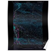 USGS Topo Map Washington State WA Yakima East 244813 1953 62500 Inverted Poster