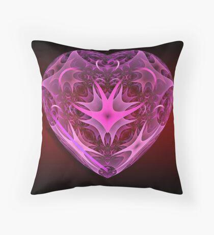 Heart Of Glass Throw Pillow