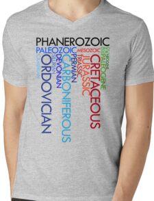 Phanerozoic aeons, eras, ages Mens V-Neck T-Shirt