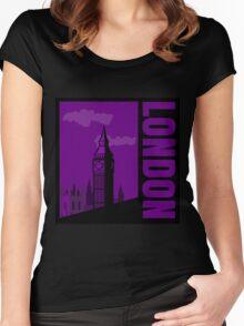 Minimalist London Big Ben - Comic Art Women's Fitted Scoop T-Shirt