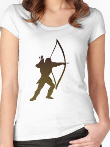 Archery tee design Women's Fitted Scoop T-Shirt