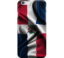 Dominican Republic Flag Drop iPhone Case/Skin