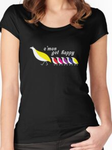 C'mon Get Happy Women's Fitted Scoop T-Shirt