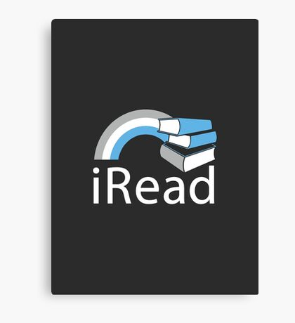 i Read | Reading Slogan for Book Lovers Canvas Print