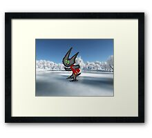 Cat IceSkating Framed Print