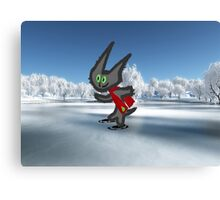 Cat IceSkating Canvas Print