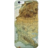 Vintage United States Physical Features Map (1915) iPhone Case/Skin