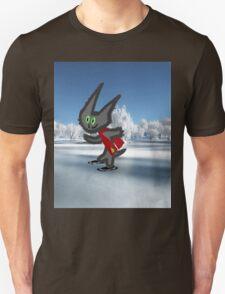 Cat IceSkating Unisex T-Shirt