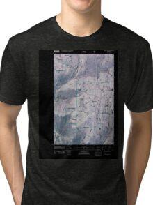 USGS Topo Map Washington State WA Mount Annie 20110429 TM Inverted Tri-blend T-Shirt
