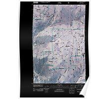 USGS Topo Map Washington State WA Mount Annie 20110429 TM Inverted Poster