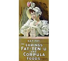 Get Fat 1895 Vintage Advertising Poster Photographic Print