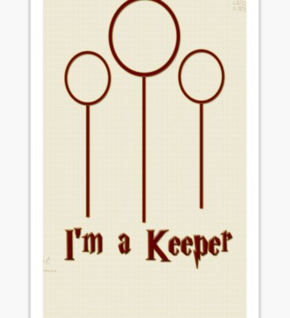 I'm a Keeper Sticker