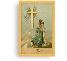Vintage Faith devotional religious Canvas Print