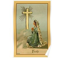 Vintage Faith devotional religious Poster