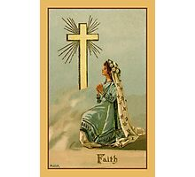 Vintage Faith devotional religious Photographic Print