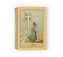 Vintage Faith devotional religious Spiral Notebook