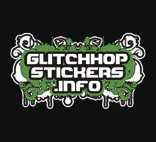 Glitch Hop Stickers Dot Info Official Merch by David Avatara