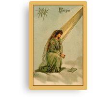 Vintage Hope devotional religious Canvas Print
