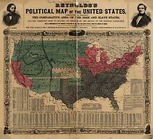 Vintage Political Map of The United States (1856) by BravuraMedia