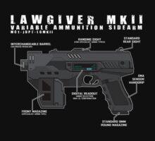 Lawgiver MKII Schematic Vector by strangelysaucy