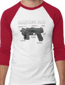 Lawgiver MKII Schematic Vector Men's Baseball ¾ T-Shirt