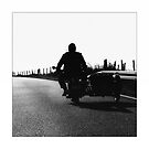 Motorcycle ride poster - on vacation by Falko Follert