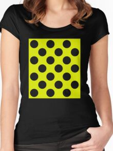 ticker tape Women's Fitted Scoop T-Shirt