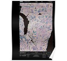 USGS Topo Map Washington State WA Hoodsport 20110519 TM Inverted Poster