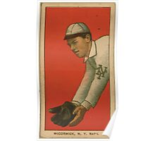 Benjamin K Edwards Collection Moose McCormick New York Giants baseball card portrait 001 Poster