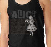 Alice In Wonderland with Text Tank Top