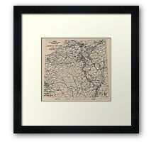 February 19 1945 World War II Twelfth Army Group Situation Map Framed Print