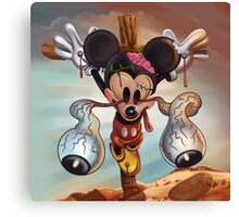 Crucified Mickey Canvas Print