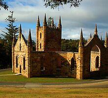 Church Ruins At Port Arthur. Tasmania, Australia. by Ralph de Zilva
