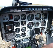 Helicopter control panel by Vic Perri