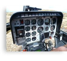 Helicopter control panel Canvas Print