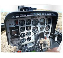 Helicopter control panel Poster