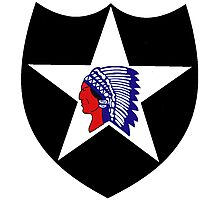 2nd Infantry Division Logo Photographic Print