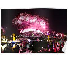 Sydney Fireworks NYE 2012 Poster