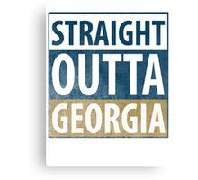 Straight Outta Georgia Canvas Print