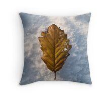 Autumn Fall on Snow Fall Throw Pillow