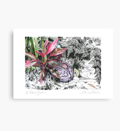 A Potter's Garden (No.5) Canvas Print