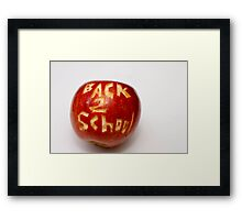 ~ BACK TO SCHOOL ~ Framed Print