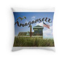 Beach Hut- Amagansett Throw Pillow