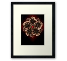 MANFLOWER 3 CARD Framed Print